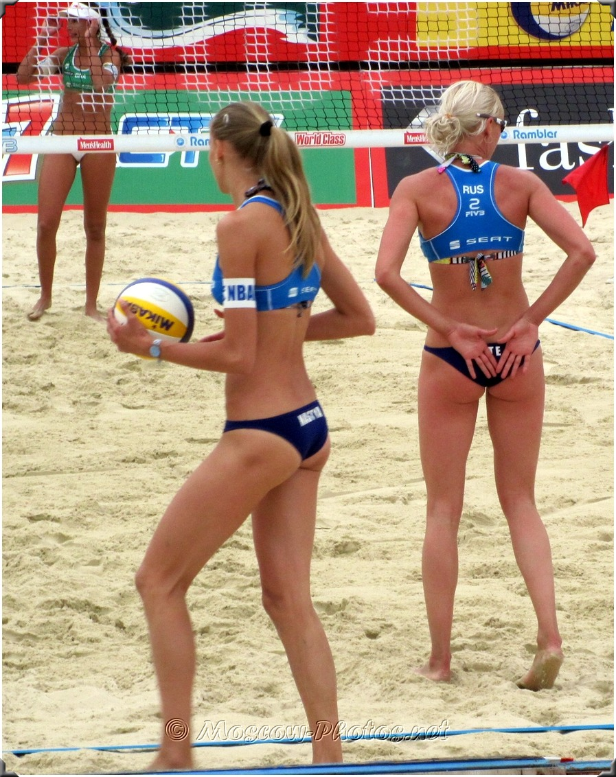 Beach Volleyball Defensive Formation Of Russian Team
