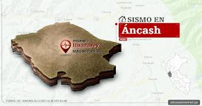 Temblor en Áncash de 4.1 Grados (Hoy Domingo 19 Noviembre 2017) Sismo EPICENTRO Huarmey - Casma - Recuay - Barranca - IGP - www.igp.gob.pe