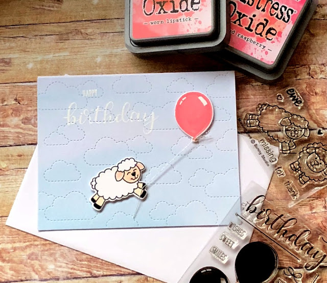 Sunny Studio Stamps: Missing Ewe Customer Card Share by Noga Shefer