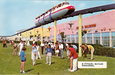 A Typical Butlin Monorail. I have two other versions of this card, but with the caption of 'Butlin's Skegness Monorail' instead. One was postally used on 27th July 1971