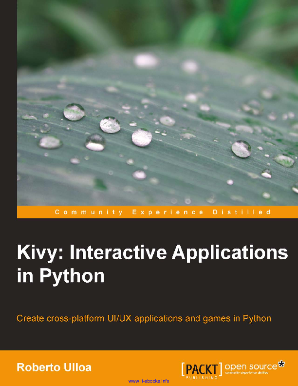 Kivy interactive applications in python
