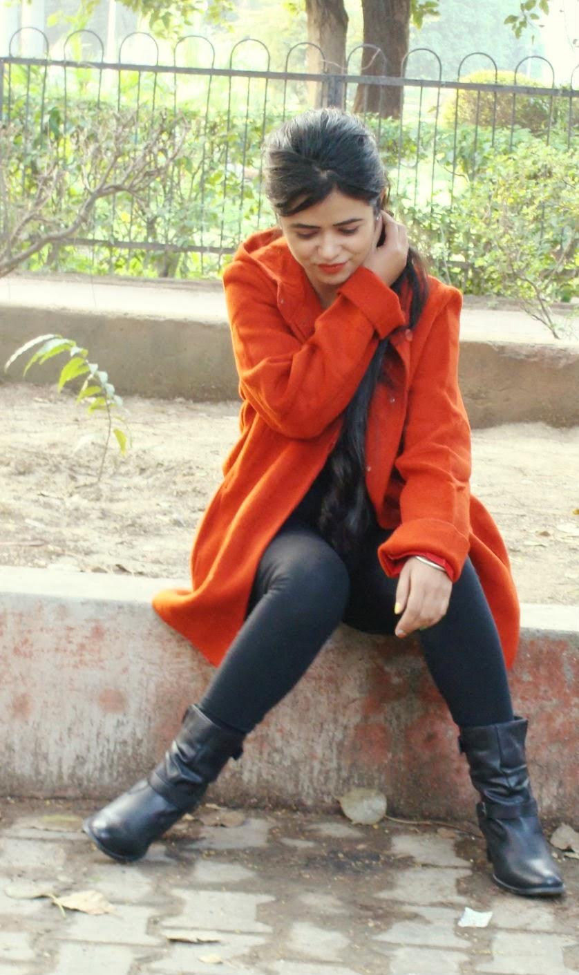 Orange Coat OOTD
