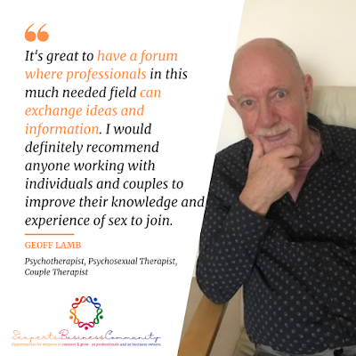 Geoff Lamb likes the Sexperts Business Community as we give him a forum to exchange ideas and information with other sexperts.