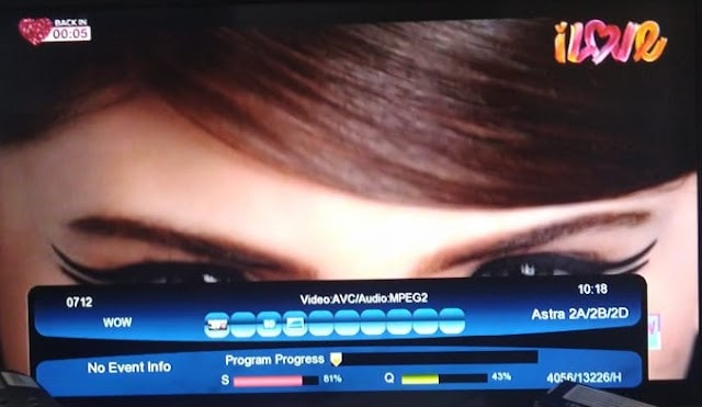 Wow Hindi Music channel added on Insat 4A satellite