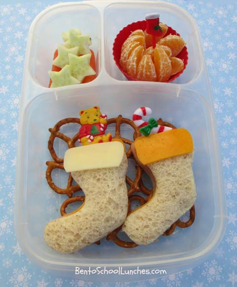 Christmas stockings bento lunch