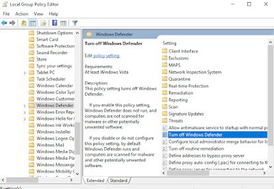 Cara Mematikan Windows Defender Di Windows 10, 8, 7 Permanen