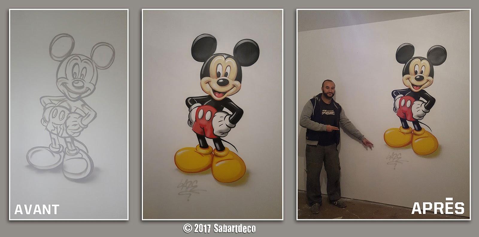 """Décoration Chambre enfant sur le thème """" Mickey Mouse"""" à Annay"""