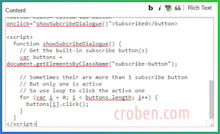 Show Subscribe Dialogue In Blogger Step 4
