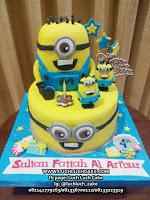 Kue Tart Birthday Minion Fondant Surabaya - Sidoarjo