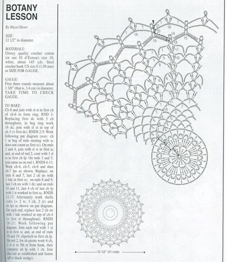Салфетка схема вязания крючком