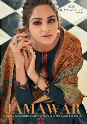 Mumtaz Arts Jamawar Jam Satin print Suits wholesaler