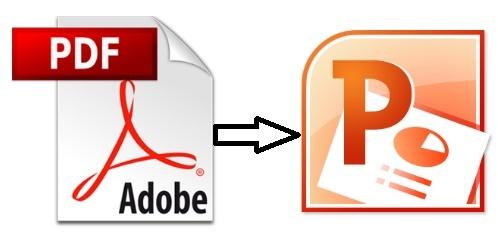 شرح تحويل ملفات البى دى إف pdf إلى ملفات بور بوينت بدون برامج