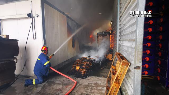 Πυρκαγιά σε εργοστάσιο στο Παναρίτι Αργολίδας