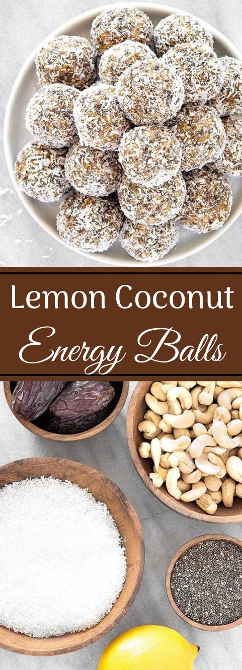 HEALTHY LEMON COCONUT ENERGY BALLS #balls #coconut #lemon #healthydiet #recipes
