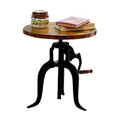 Adjustable Crank Accent Table