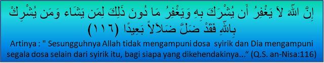 surah an-nisa ayat 48 dan 116
