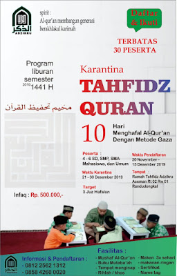Tahfidz Qur'an Di Adzikru Randudongkal