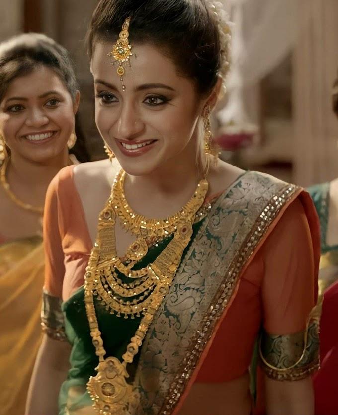 Trisha Krishnan Hot Bridal Saree Photos
