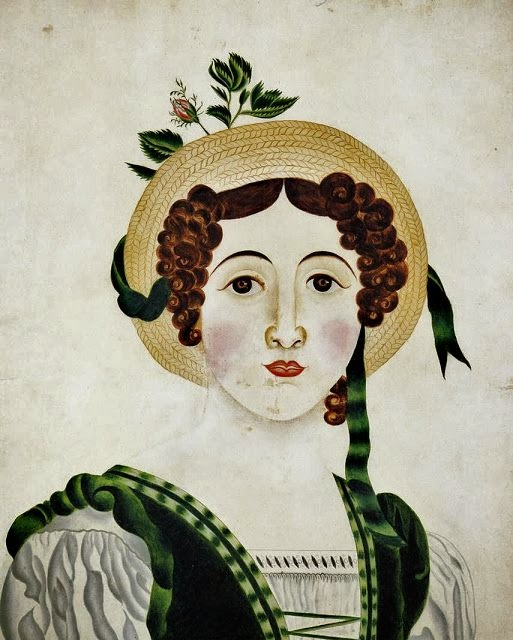 Lady in a Straw Hat (1824-25), Almira Wheaton