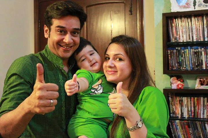 Maha Boutique: Faisal Qureshi with wife and daughter