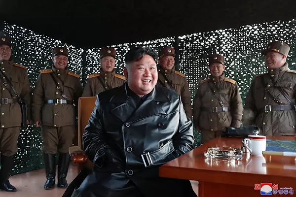 Kim Jong Un observes tactical guided weapon demonstration fire, March 2020