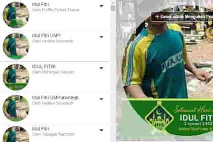 Bingkai Foto Profil FB Ucapan Selamat Idul Fitri 2021