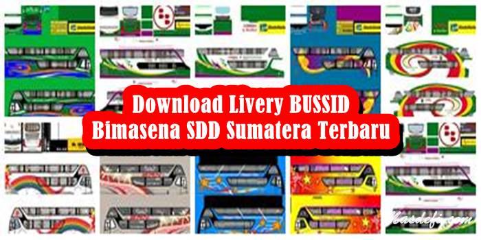 livery bussid bimasena sdd sumatera