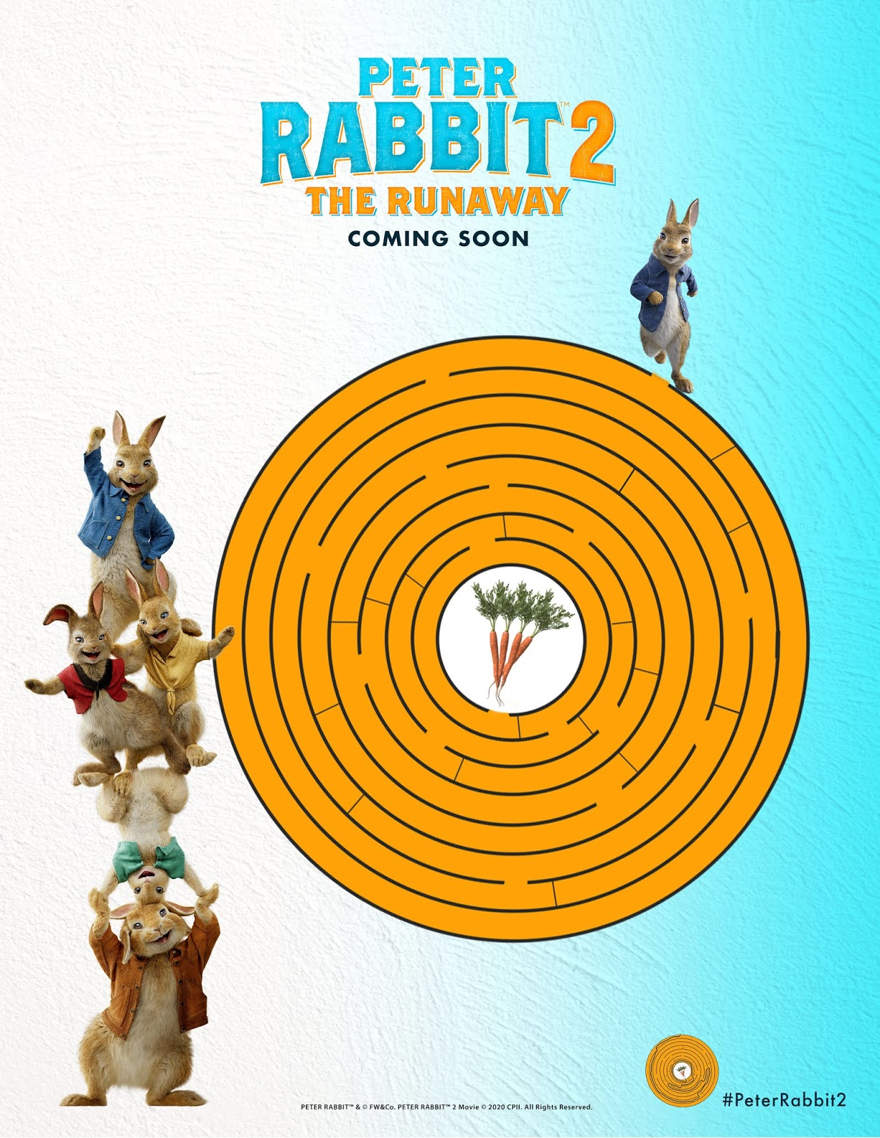Peter Rabbit 2 Maze Sheet