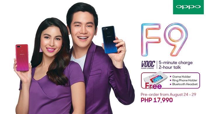Pre-order the OPPO F9 to Get Php1,500 Worth of Freebies