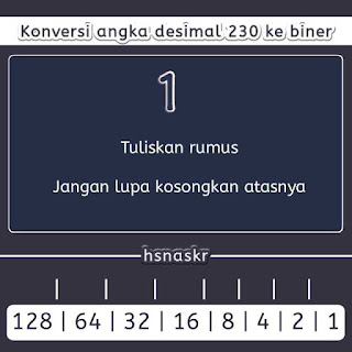 Hasan Askari: Cara cepat konversi desimal ke biner - 1