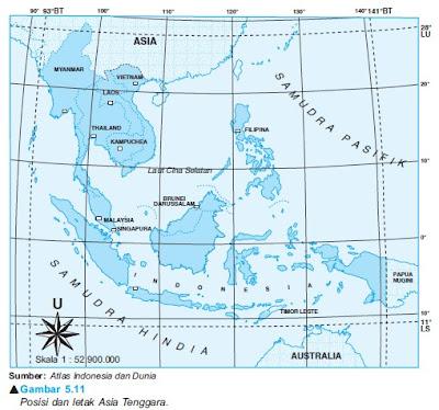 Posisi dan Letak Asia Tenggara