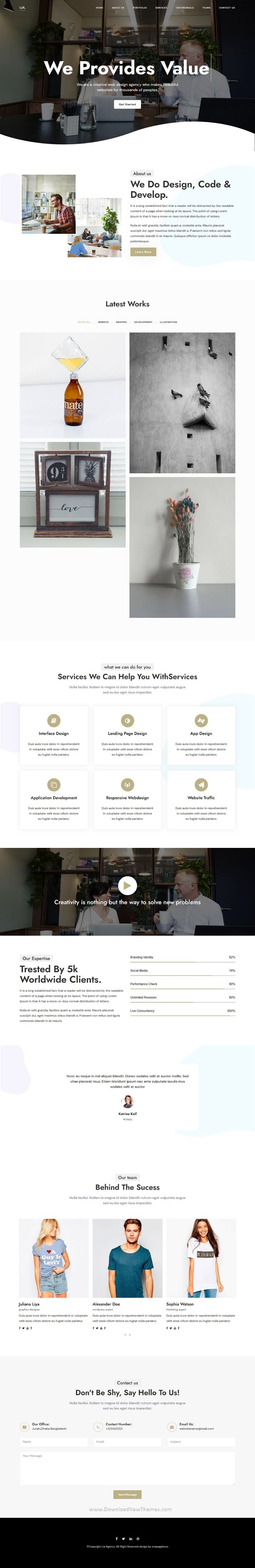 OnePage Creative Agency Parallax Template