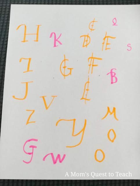 practice handwriting letters