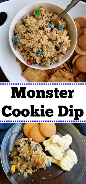This dip is always a huge hit. It is like eating monster cookie dough in dip form. Once you start, it's hard to stop!