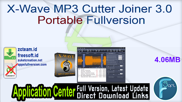X-Wave MP3 Cutter Joiner 3.0 Portable Fullversion