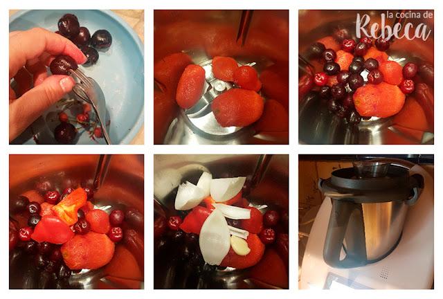 Receta de gazpacho de cerezas 01