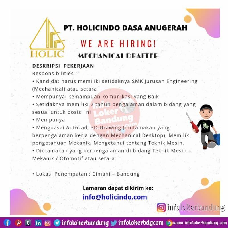 Lowongan Kerja PT. Holicindo Dasa Anugerah Bandung April 2021