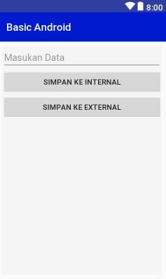 Layout Design Internal - External Storage Example