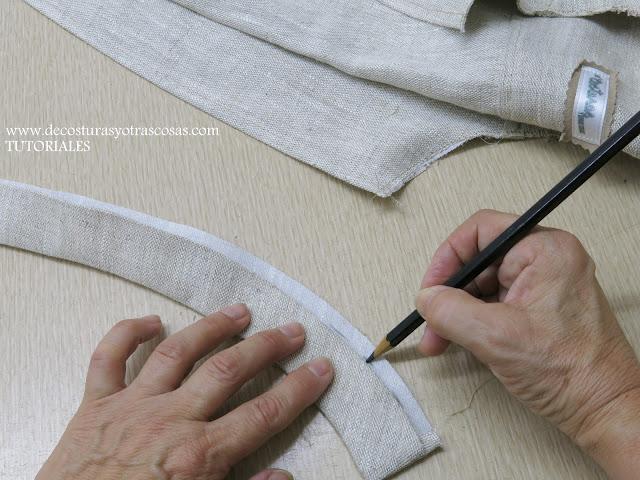 como coser un cuello tira de forma profesional