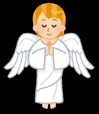 お祈りをする天使のイラスト