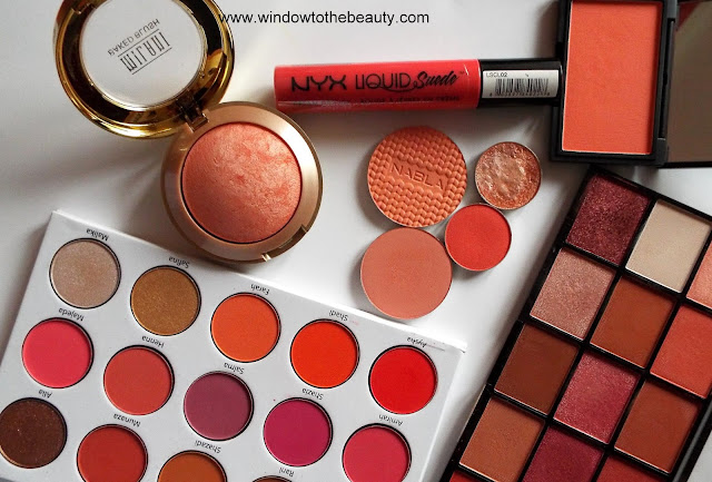 the best favorite cosmetics in  coral  shade