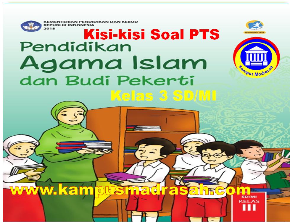 Kisi-kisi Soal PTS PAI Dan BP Kelas 3 SD