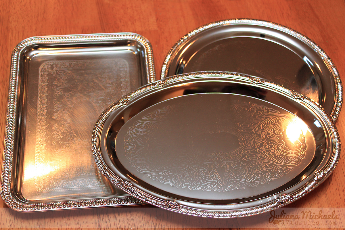 Dollar Tree Silver Trays