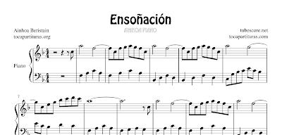 Ensoñación de Ainhoa Beristain Partitura de Piano