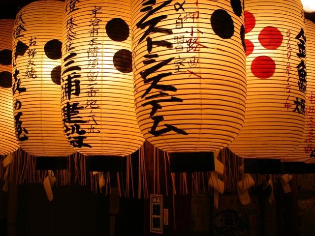 Lampion di kuil Jepang
