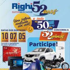 Aniversário 2021 RIGHI Supermercados 52 Anos