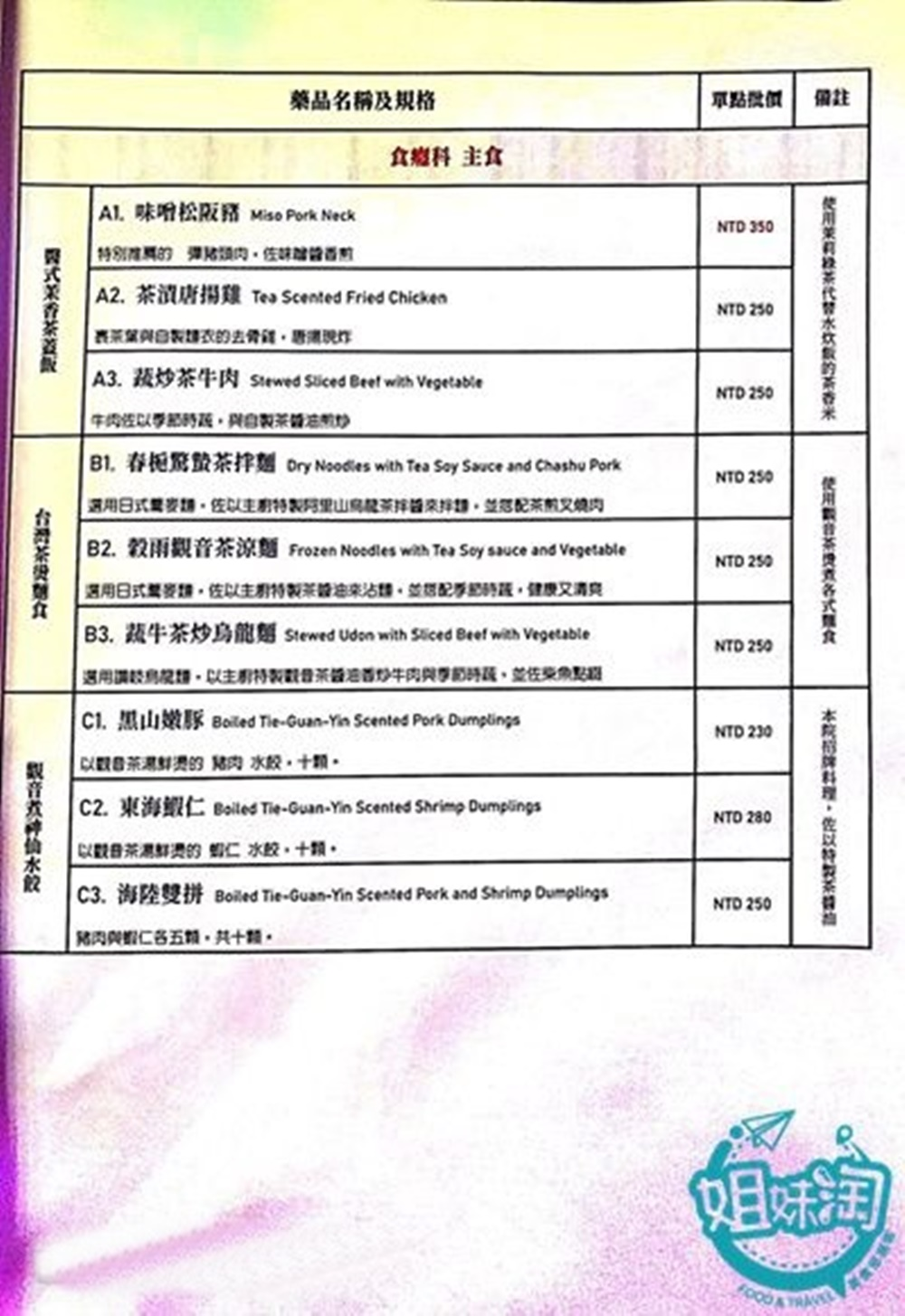 木衛二醫務所菜單,台北茶館,台北景點,台北酒吧,台北gay bar,台北東區,