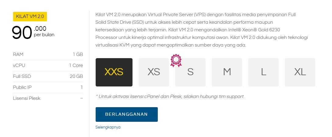 Kilat VM 2.0 VPS Server dari CloudKilat