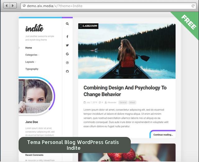 Tema personal blog WordPress Gratis Indite