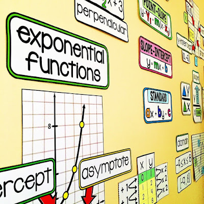 algebra word wall - printable for your math classroom and no-prep digital in Google Slides